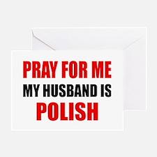 Pray Husband Polish Greeting Card
