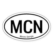 Macon, Georgia Oval Decal
