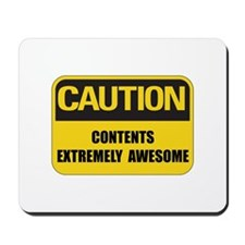 Caution Awesome Mousepad