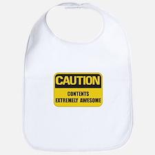 Caution Awesome Bib