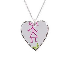 Angelica-cute-stick-girl.png Necklace Heart Charm