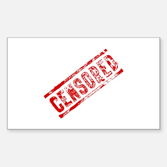Censored Stamp Sticker (Rectangle 10 pk)