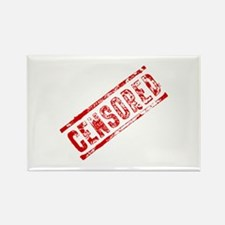 Censored Stamp Rectangle Magnet (10 pack)