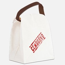 Censored Stamp Canvas Lunch Bag