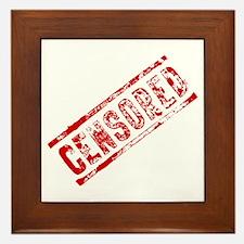 Censored Stamp Framed Tile