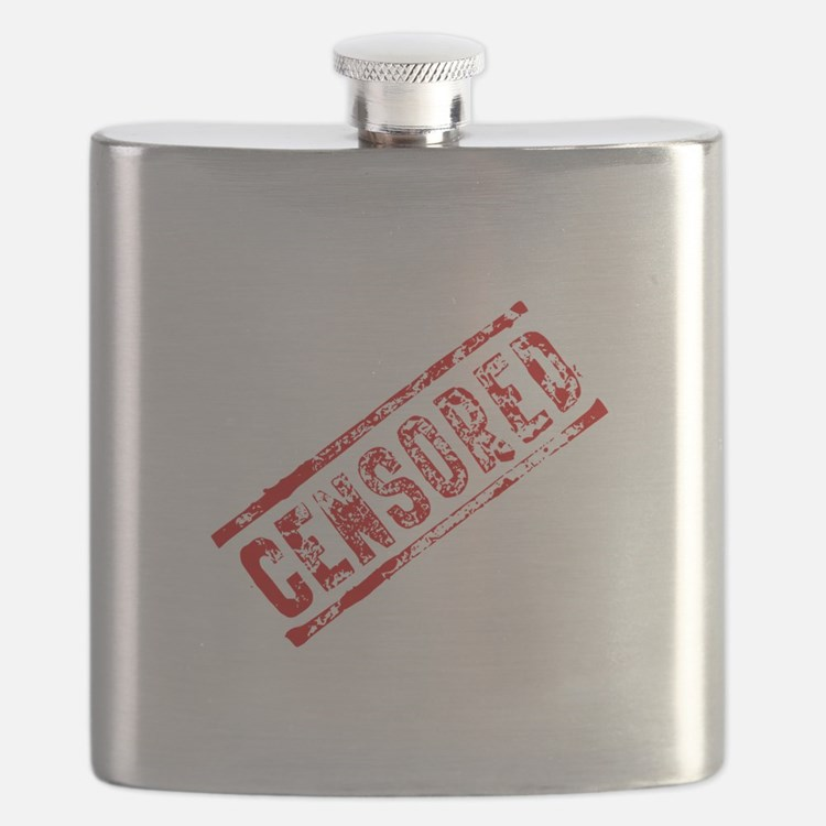 Censored Stamp Flask