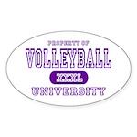 Volleyball University Oval Sticker