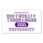 Volleyball University Rectangle Sticker