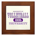Volleyball University Framed Tile