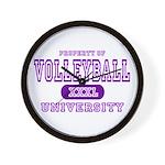 Volleyball University Wall Clock