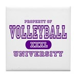 Volleyball University Tile Coaster
