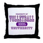 Volleyball University Throw Pillow