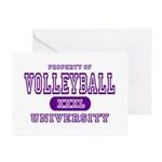 Volleyball University Greeting Cards (Pk of 10