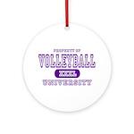 Volleyball University Ornament (Round)