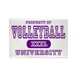 Volleyball University Rectangle Magnet