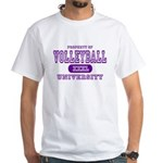 Volleyball University White T-Shirt