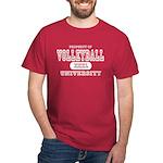 Volleyball University Dark T-Shirt