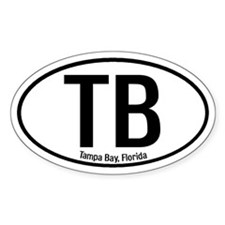 Tampa Bay, Florida Oval Decal