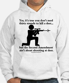 The Second Amendment Aint About Hunting Deer Hoode