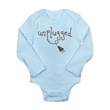 Unplugged Long Sleeve Infant Bodysuit