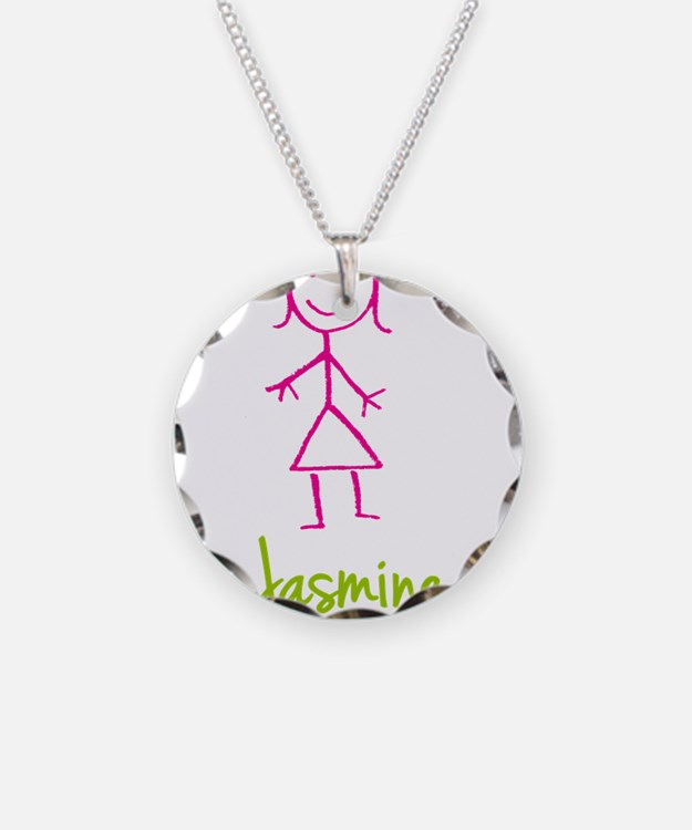Jasmine-cute-stick-girl.png Necklace