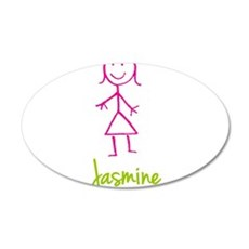 Jasmine-cute-stick-girl.png Wall Decal