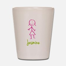 Jasmine-cute-stick-girl.png Shot Glass