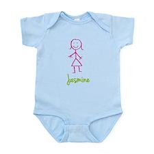 Jasmine-cute-stick-girl.png Infant Bodysuit