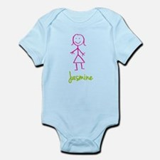 Jasmine-cute-stick-girl.png Infant Bodysuit