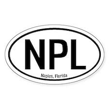 Naples, Florida Oval Decal
