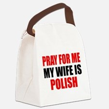 Pray Wife Polish Canvas Lunch Bag