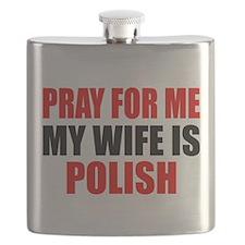 Pray Wife Polish Flask