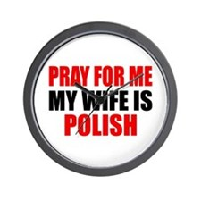 Pray Wife Polish Wall Clock