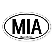 Miami, Florida Oval Decal