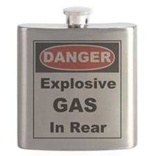 Danger Explosive Gas In Rear Flask