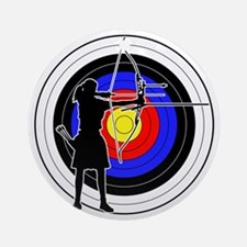 Archery & target 02 Ornament (Round)