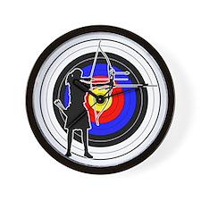 Archery & target 02 Wall Clock