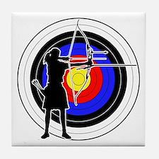 Archery & target 02 Tile Coaster
