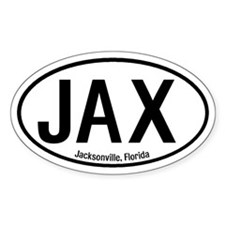 Jacksonville, Florida Oval Decal