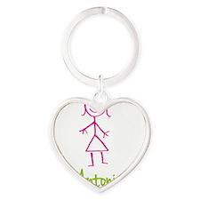 Antonia-cute-stick-girl.png Heart Keychain