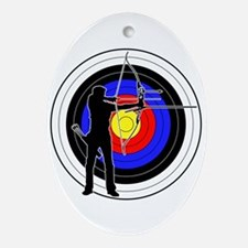 Archery & target 01 Ornament (Oval)