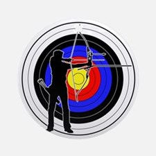 Archery & target 01 Ornament (Round)