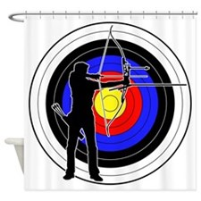 Archery & target 01 Shower Curtain
