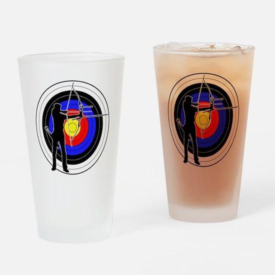 Archery & target 01 Drinking Glass
