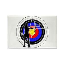 Archery & target 01 Rectangle Magnet