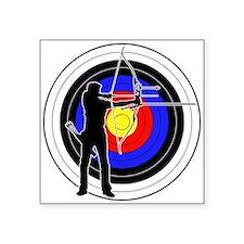 "Archery & target 01 Square Sticker 3"" x 3"""