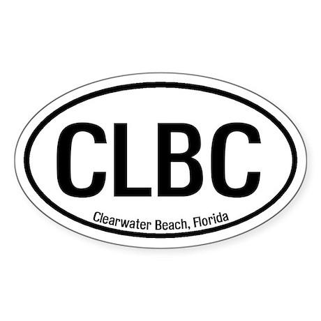 Clearwater Beach, Florida Oval Sticker