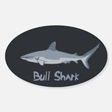 Bull Shark II Sticker (Oval)