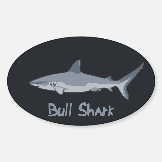 Bull Shark II Sticker (Oval)