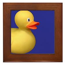 Yellow Rubber Duck on Blue Framed Tile